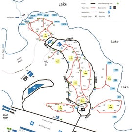 Oakbottom Campground Map
