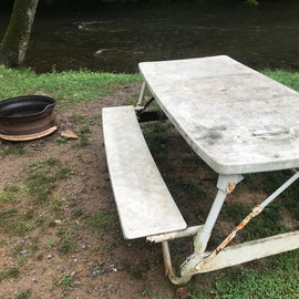 Picnic table could use some attention