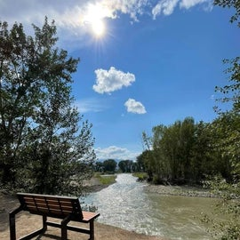 Bench by the Salmon River