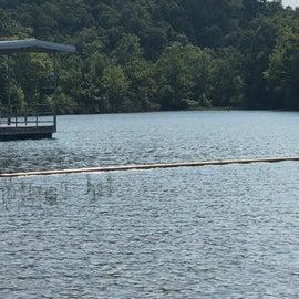 Monsanto Lake in fishing dock