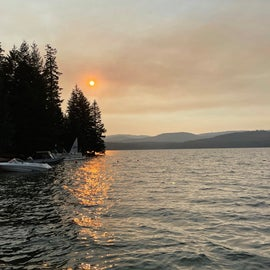 A bit hazy from wildfires