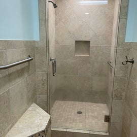 one of the women's shower