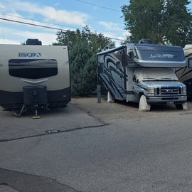 storage of RVs / Trailers. there is even a boat being stored here.