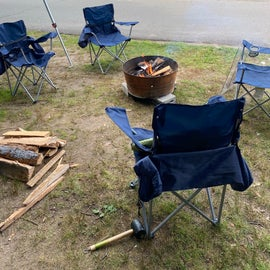 Fire Pit & Wood Bundles available at the camp store.