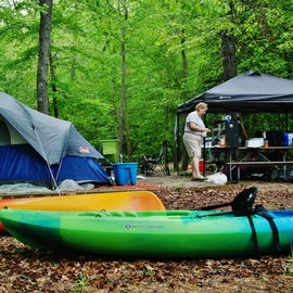 Kerr Lake offers great opportunities for water activities, including kayaking.