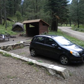 this is the only campsite with a shelter