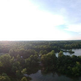 Over head view of the lake