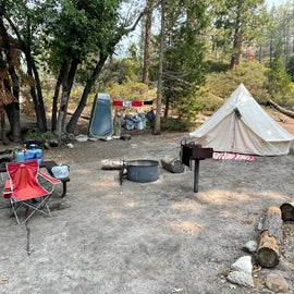 glamping at site 8