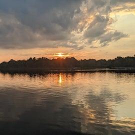 sunset over Bishop Lake