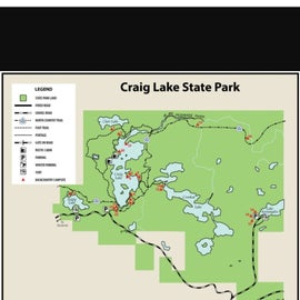 Map of Craig Lake rec area