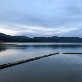 lake at campground