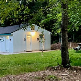 Bath house at Desert of Maine campground