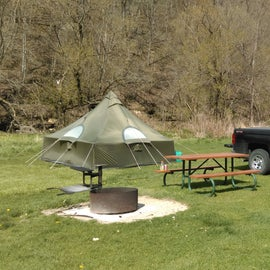 Camping at Little Paint Creek campground