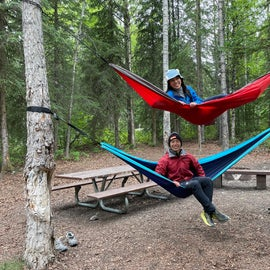 hammock stack at our campground!