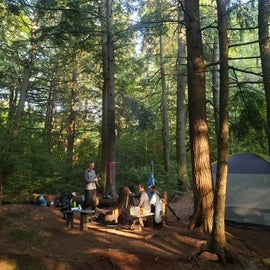 Hemlock camp site