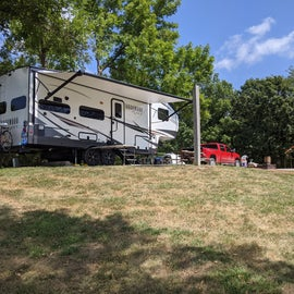 Site 6 from the back yard