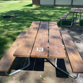 We had to picnic tables for our site