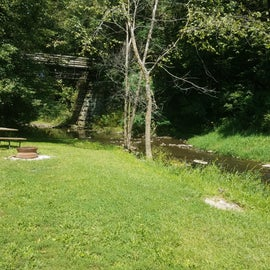 One of the campsites by the stream