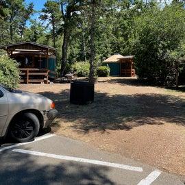Part of the Yurt Village
