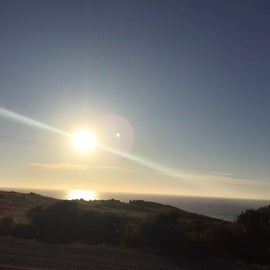 Sunset on the Pacific Ocean (unobstructed)