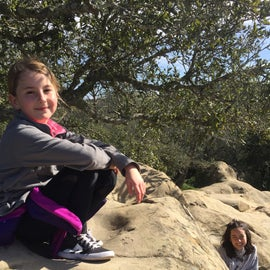 Me little lasses playing around Rock City, just a short hike from the campsite