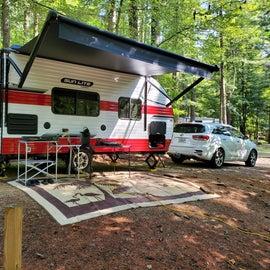 Downhill campsite