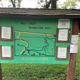 Welcome sign and map