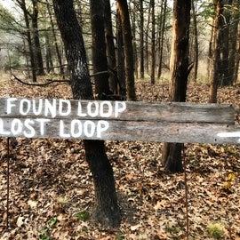 Lost Loop adds 2.5 miles and Found Loop adds 0.5 miles.