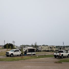Campsites seen from the office.