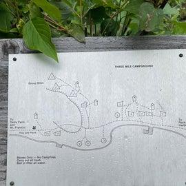 3 mile site map
