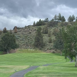 View of one of the holes on the adjoining golf course