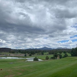 View of mountains from the adjoining golf course