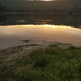 South Pond at sunset in August