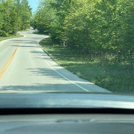 curvy road most phographed in WI