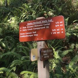 excellent trail signage
