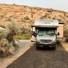 Plenty of space for our small RV