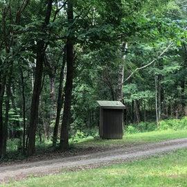 Horse area pit toilet