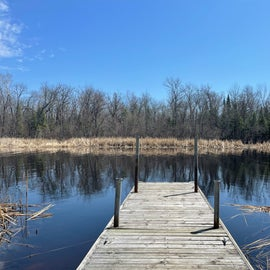 This was a little dock at the campground. They offer camping and kayaking.