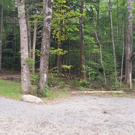 Parking and the crushed gravel path to tent sites