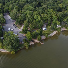 view of the boat ramp