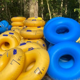 If you forgot your inner tube, no worries, this campground has you covered!