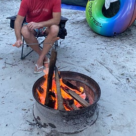 After a long day of setting up camp and enjoying the Springs, a hot dog over the fire never tasted so good!