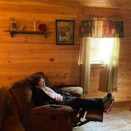 Big, comfy recliner!
