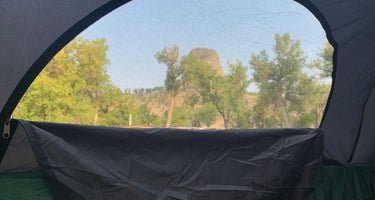 Belle Fourche Campground at Devils Tower