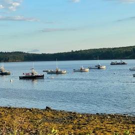 Boats at Lamoine St. Park Bayfront