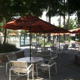 Patio area at pool