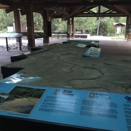 Headwater interpretive center.  Walk it after the lodge there closes for fewer crowds.