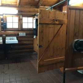 This is the non-shower-bath-house.  This one is further south than the shower house, and although more rustic, it's very nice (with flush toilets and running water).