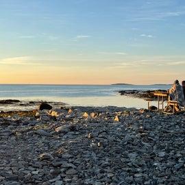 Picnic on the Seawall- Acadia NP