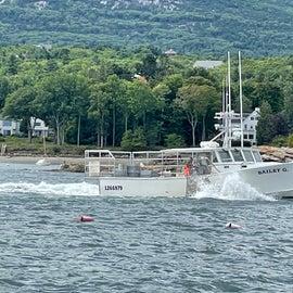 Bar Harbor lobster boat off Northeast Harbor
